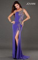 Jovani 789 One Shoulder Evening Dress image