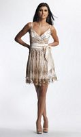 Dave and Johnny 7894 Short Prom Dress with Bow image