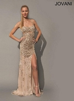 Jovani 79024 Backless Long Dress with Cut Outs image