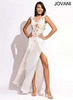 Jovani 79034 Sleeveless Taffeta Formal Dress image