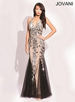 Jovani 79062 Sexy Sequin Tulle Gown image