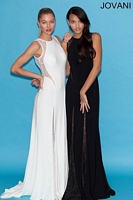 Jovani 79129 Jersey Gown with Sheer Lace image
