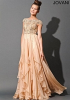 Jovani 79132 Tiered Ruffle Empire Gown image