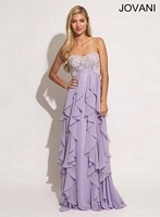 Jovani 79154 Gown with Tiered Ruffle Skirt image