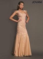 Jovani 79157 Formal Dress with Godet Skirt image