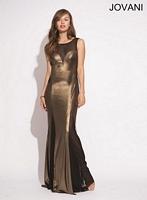 Jovani 79186 Metallic Illusion Formal Dress image