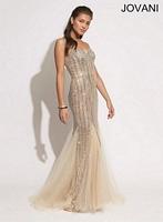 Jovani 79227 Beaded Tulle Mermaid Dress image