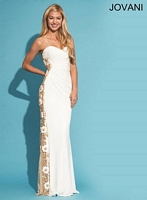 Jovani 79244 Formal Dress with Flowers image