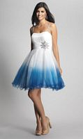 Dave and Johnny 7951 Ruched Bodice Short Dress image