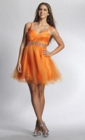 Dave and Johnny 8004 Ruched and Beaded Short Dress image
