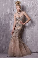 Jovani Stunning Beaded Tulle Mermaid Evening Dress 8084 image