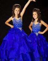 Sugar by MacDuggal Girls Pleated Ruffle Pageant Dress 81121S image