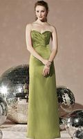 Dessy Social Matte Satin Long Bridesmaid Dress 8113 image