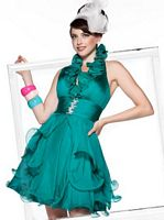 BabyDoll by MacDuggal Short Prom Dress with Ruffle Collar 81200B image