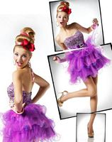 MacDuggal BabyDoll Purple Sequin Pearl Tulle Short Prom Dress 81336B image