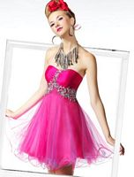 BabyDoll by MacDuggal Strapless Sexy Short Prom Dress 81395B image