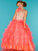 Sugar by Mac Duggal 81808S Girls Neon Pageant Dress image