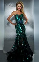 MacDuggal 85089M Allover Sequin Mermaid Dress image