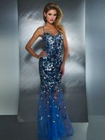 MacDuggal 85114M Mermaid Dress with Illusion and Sequins image