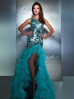 MacDuggal 85125M High Low Ruffle Mermaid Dress image