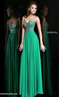 Sherri Hill 8546 Long Dress with Beaded Bodice image