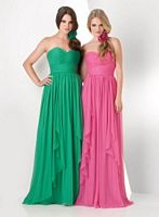 Size 14 Peony Bari Jay 866 Empire Bridesmaid Dress image