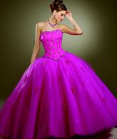 Vizcaya Satin and Tulle Quinceanera Dress by Mori Lee 87088 image