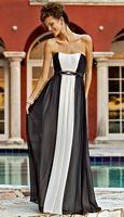 Alexia Couture Two Tone Bella Chiffon Long Bridesmaid Dress 872 image