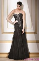 Jovani Black Silver Evening Dress 8775 image