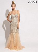 Jovani 88020 Beaded Tulle Formal Dress image
