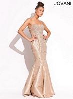 Jovani 88027 Beaded Mermaid Dress image