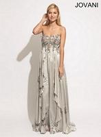 Jovani 88047 Floral Embellished Gown image