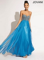 Jovani 88049 Empire Flowing Chiffon Gown image