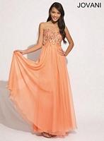 Jovani 88079 Empire Waist Flowing Dress image