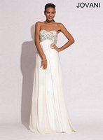 Jovani 88081 Elegant Flowing Empire Evening Dress image