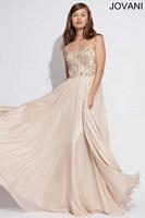 Jovani 88090 Sleeveless Empire Chiffon Gown image