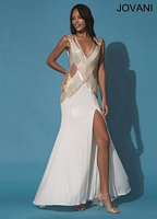 Jovani 88132 Jersey Gown with Sexy Slit image