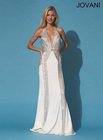 Jovani 88145 Sexy Plunging Halter Gown image