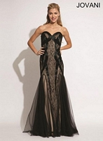 Jovani 88173 Lace and Tulle Formal Dress image