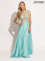 Jovani 88174 Sleeveless Empire Gown image
