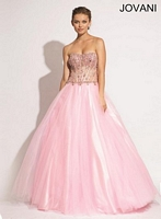Jovani 88216 Tulle Ball Gown image