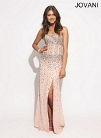 Jovani 88248 Exposed Corset Formal Dress image