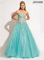 Jovani 88333 Ball Gown with AB Stones image