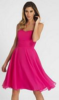 Alexia Couture Flirty Cocktail Length Chiffon Bridesmaid Dress 884 image