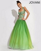 Jovani 88452 Halter Tulle Formal Dress image
