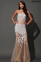 Jovani 88469 Beaded Sheer Skirt Gown image