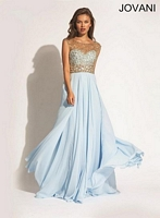 Jovani 88471 Sleeveless Empire Chiffon Formal Dress image