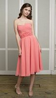 Size 12 Mori Lee Affairs Floral Waist Chiffon Bridesmaid Dress 885 image
