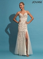 Jovani 88585 Lace and Tulle Formal Dress image