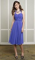 Size 14 Mori Lee Affairs Short Halter Chiffon Bridesmaid Dress 886 image